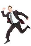 企业飞跃 免版税图库摄影