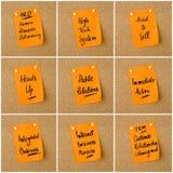 企业首字母缩略词拼贴画在纸笔记写的 库存照片