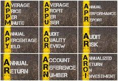 企业首字母缩略词照片拼贴画  免版税库存图片