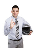 企业骑自行车的人 库存照片