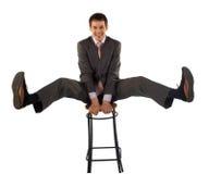 企业高兴人年轻人 库存照片