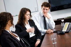 企业购买权会议 免版税库存图片