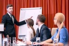 企业介绍在会议上 免版税库存照片