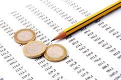 企业货币编号 免版税库存图片