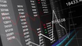企业财政和储蓄统计图表图和信息数据的无缝的动画编号背景纹理样式 皇族释放例证