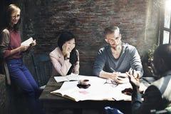 企业结构室内设计师会议概念 免版税库存图片