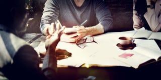 企业结构室内设计师会议概念 库存照片