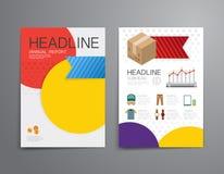企业购物小册子,飞行物,杂志封面设计templat 皇族释放例证