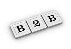 企业间的符号 B2B标志 免版税库存图片