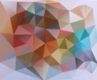 企业介绍的,公司样式五颜六色的三角背景 免版税图库摄影
