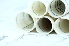 企业建筑文书工作 免版税库存图片