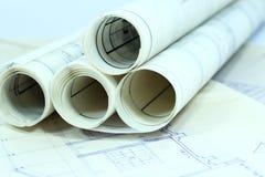 企业建筑文书工作 免版税库存照片