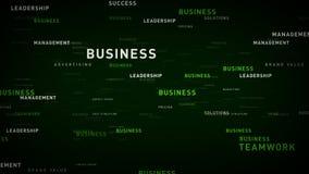 企业绿色的主题词 向量例证