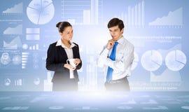 企业逻辑分析方法 免版税图库摄影