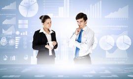 企业逻辑分析方法 免版税库存图片