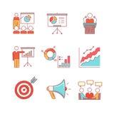 企业介绍,教育,研讨会,演讲 免版税库存图片