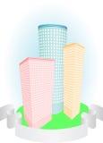 企业buldings图标 免版税图库摄影