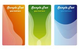企业cards3颜色 免版税库存照片