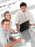 企业culutre多小组年轻人 免版税库存照片