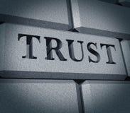 企业de财务荣誉称号完整性符号信任 皇族释放例证