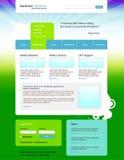 企业desing的解决方法向量网站 免版税图库摄影