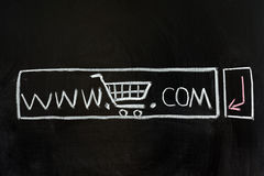 企业e访问的网站 图库摄影