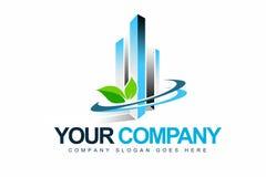 企业Eco徽标 库存图片