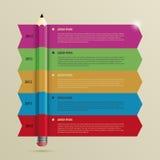 企业Infographic与铅笔的时间安排模板 向量 库存图片