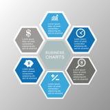企业infographic六角形 图库摄影