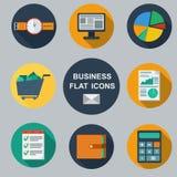 企业infographic平的设计。 图库摄影
