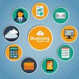 企业infographic平的设计。 免版税库存照片