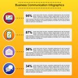企业infographic平的设计 免版税库存图片