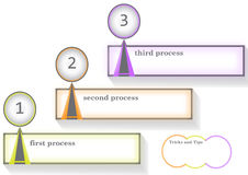 企业infographic文本框 库存照片