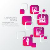 企业infographic模板 图库摄影