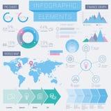 企业infographic要素 库存图片