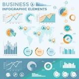 企业infographic要素 免版税库存图片