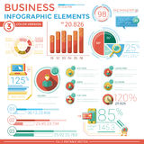 企业infographic要素 库存照片