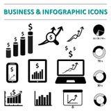 企业infographic象 库存照片