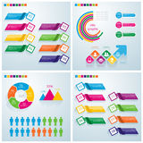 企业infographic集合 能为工作流布局, banne使用 免版税图库摄影
