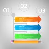 企业Infographics传染媒介例证 能为工作流布局,横幅,图,数字选择使用,提高选择,网 免版税图库摄影