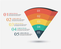 企业Infographics传染媒介例证 免版税库存图片