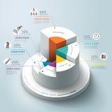 企业Infographics圆形图。 免版税库存照片