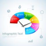 企业Infographics圆形统计图表 皇族释放例证