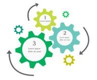 企业infographics钝齿轮设计 图库摄影