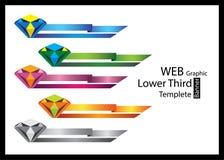 企业infographics,网,降低三,横幅模板 免版税库存照片