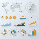 企业infographics 库存照片