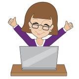 企业Laptop夫人 库存照片