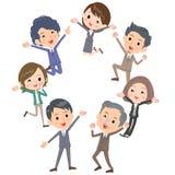 企业people_gather愉快的跃迁 免版税图库摄影
