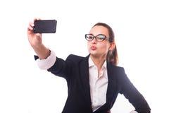企业selfie 免版税图库摄影