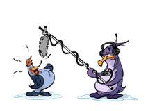 企鹅唱歌 向量例证